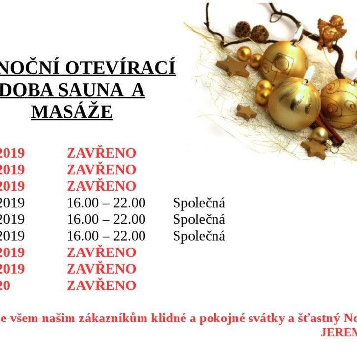 Vánoční otevírací doba sauna a masáže 2019-page-001